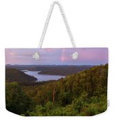 Rainbow Over Broken Bow Lake Weekender Tote Bag