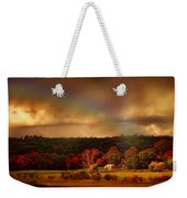 Rainbow Over Countryside Weekender Tote Bag