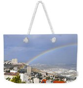 Rainbow Over Haifa, Israel  Weekender Tote Bag