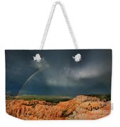 Rainbow Over Hoodoos Bryce Canyon National Park Utah Weekender Tote Bag