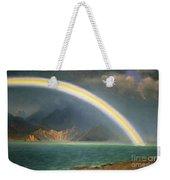 Rainbow Over Jenny Lake Wyoming Weekender Tote Bag by Albert Bierstadt