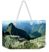Rainbow Over Machu Picchu Weekender Tote Bag
