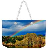 Rainbow Over Mill Pond Weekender Tote Bag