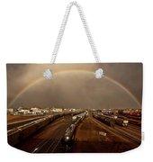 Rainbow Over Moose Jaw Saskatchewan Weekender Tote Bag