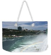 Rainbow Over Niagra Falls Weekender Tote Bag
