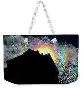 Rainbow Over The Pyramid Club Weekender Tote Bag
