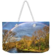 Rainbow Over The River Weekender Tote Bag
