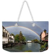 Rainbow Over Thiou River In Annecy Weekender Tote Bag