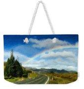 Rainbow Road - Id 16217-152055-0118 Weekender Tote Bag