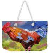 Rainbow Rooster Weekender Tote Bag