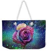 Rainbow Rose In The Rain Weekender Tote Bag