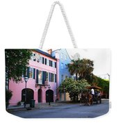 Rainbow Row Charleston Weekender Tote Bag