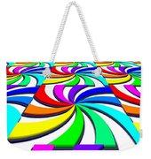 Rainbow Spectral Swirl Weekender Tote Bag