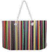 Rainbow Stripe Weekender Tote Bag