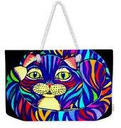 Rainbow Striped Cat 2 Weekender Tote Bag