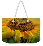 Rainbow Sunflower Weekender Tote Bag