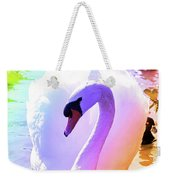 Rainbow Swan Weekender Tote Bag