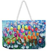 Rainbow Tulips Weekender Tote Bag