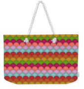 Rainbow Unicorn Scales Weekender Tote Bag