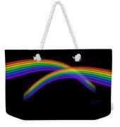 Rainbow Waves Weekender Tote Bag