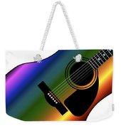 Rainbow Western Guitar Weekender Tote Bag
