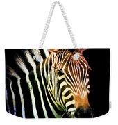 Rainbow Zebra Weekender Tote Bag
