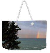 Rainbows Over The Ocean At The Mendocino Coast Weekender Tote Bag