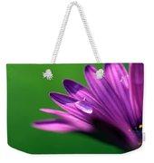 Raindrop On Purple Petal Weekender Tote Bag
