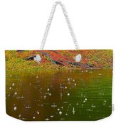 Raindrops Falling From A Tree Weekender Tote Bag