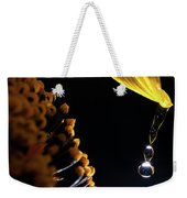 Raindrops From Sunflower Petal Weekender Tote Bag