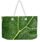 Raindrops On Fiddle Leaf Weekender Tote Bag