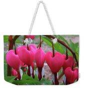 Raindrops On Pink Bleeding Hearts Weekender Tote Bag