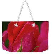 Raindrops On Roses Weekender Tote Bag by Valeria Donaldson