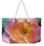 Raindrops On The Pink Rose Weekender Tote Bag