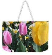 Raindrops On Tulips Weekender Tote Bag