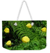 Raindrops On Yellow And Green Weekender Tote Bag