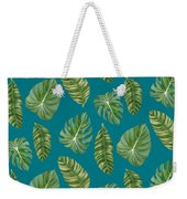 Rainforest Resort - Tropical Leaves Elephant's Ear Philodendron Banana Leaf Weekender Tote Bag