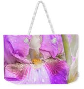 Raindrops On Persian Berry Iris Weekender Tote Bag
