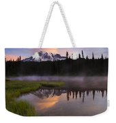 Rainier Lenticular Sunrise Weekender Tote Bag