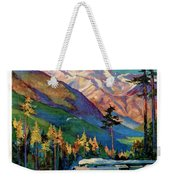 Rainier National Park Vintage Poster Restored Weekender Tote Bag