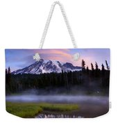 Rainier Sunrise Cap Weekender Tote Bag