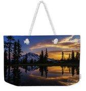 Rainier Sunrise Reflection #2 Weekender Tote Bag