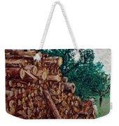 Raining Day - Woods Weekender Tote Bag