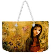 Raining Garden Weekender Tote Bag by Shijun Munns