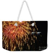 Raining Golden New Year Wishes Weekender Tote Bag