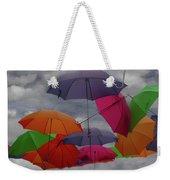 Raining Umbrellas Weekender Tote Bag by Wayne King