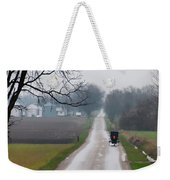 Rainy Amish Day Weekender Tote Bag