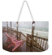 Rainy Beach Evening Weekender Tote Bag