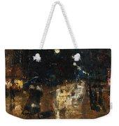 Rainy Berlin Street Weekender Tote Bag