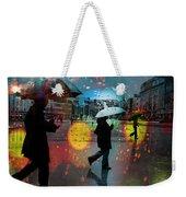 Rainy City Scene Weekender Tote Bag